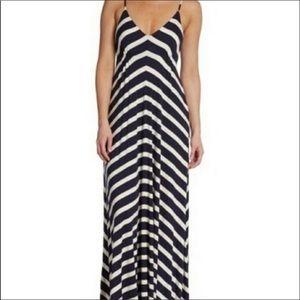 5/48 Navy And White Maxi Dress